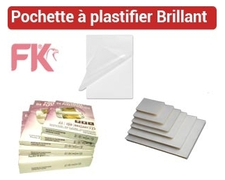 Pochette à plastifier Brillante, Mate, Dos Adhésif POA FALCONK N° 1 - Pochette Plastification Brillant, Mat